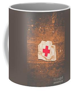 Ww2 Nurse Cap Lying On Wooden Floor Coffee Mug