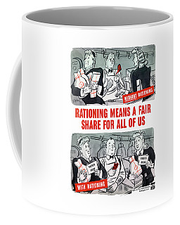 Ww2 Rationing Cartoon Coffee Mug