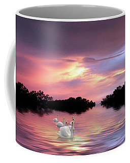 Sunset Swans Coffee Mug
