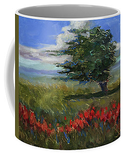 Coffee Mug featuring the painting Wyoming Gentle Breeze by Billie Colson