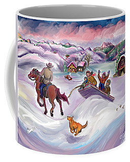 Wyoming Ranch Fun In The Snow Coffee Mug