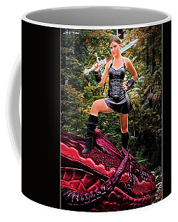 Xena Meets Dragon Coffee Mug