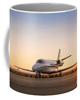 Coffee Mug featuring the digital art Xls Jet Sunrise by James Weatherly