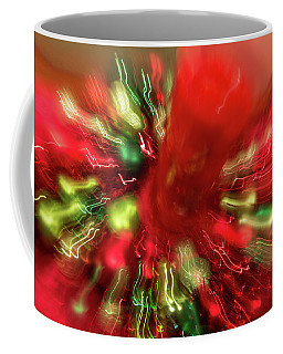Coffee Mug featuring the photograph Xmas Burst 2 by Rebecca Cozart