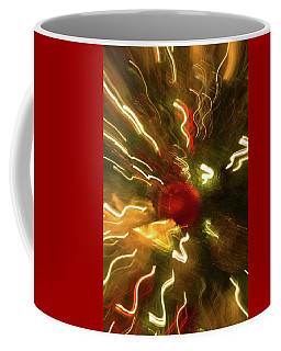 Coffee Mug featuring the photograph Xmas Burst 3 by Rebecca Cozart