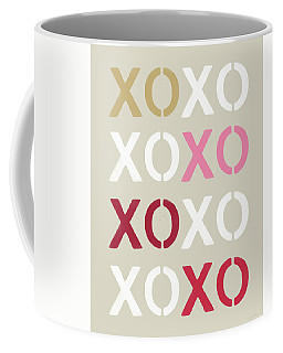 Coffee Mug featuring the mixed media Xoxo- Art By Linda Woods by Linda Woods