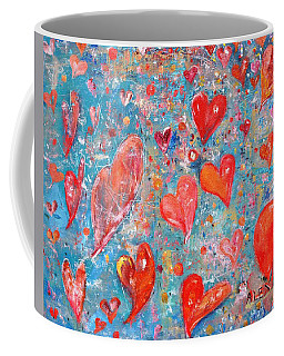 Coffee Mug featuring the painting Xoxo by Evelina Popilian
