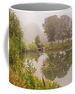 Misty Pond Bridge Reflection #5 Coffee Mug