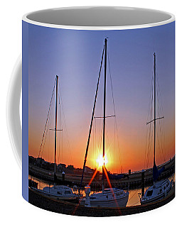Coffee Mug featuring the photograph Yacht Club Sunrise by Judy Vincent