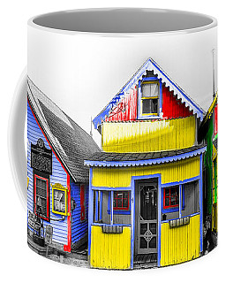 Coffee Mug featuring the photograph Yacht Street Cape May In Technicolor by Bill Cannon