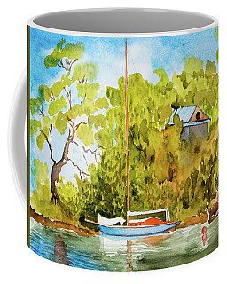 Yacht Weene' In Barnes Bay  Coffee Mug