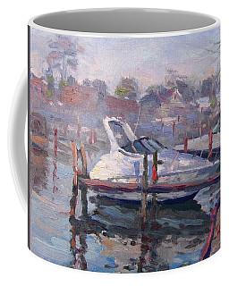 Yachts At The Harbor Coffee Mug