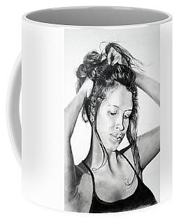 Coffee Mug featuring the drawing Yaha by Mayhem Mediums