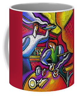 Coffee Mug featuring the painting  Yam Food And Drink by Leon Zernitsky
