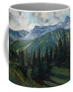 Coffee Mug featuring the painting Yankee Boy Basin by Billie Colson