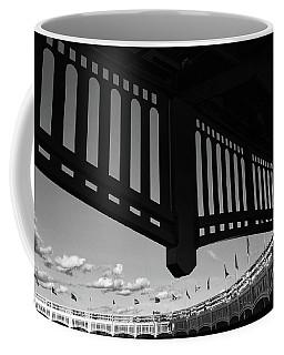 Yankee Stadium Facade - B And W Coffee Mug