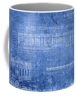 Yankee Stadium New York City Blueprints Coffee Mug