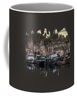 Coffee Mug featuring the photograph Yaquina Bay Boat Basin At Dawn by Thom Zehrfeld