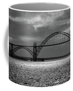 Yaquina Bay Bridge Black And White Coffee Mug