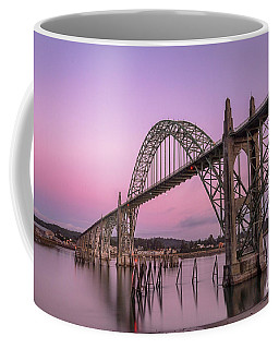 Yaquina Bay Bridge In Blue Light Coffee Mug