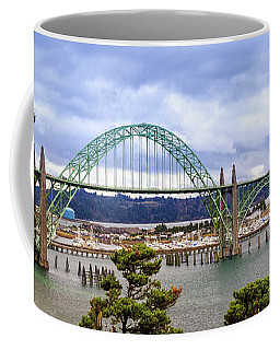 Yaquina Bay Bridge Panorama Coffee Mug