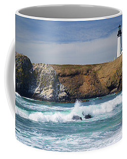 Yaquina Head Lighthouse On The Oregon Coast Coffee Mug