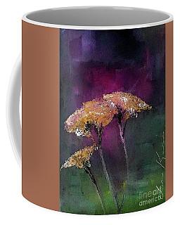 Yarrow In The Dark Painting Coffee Mug by Lisa Kaiser