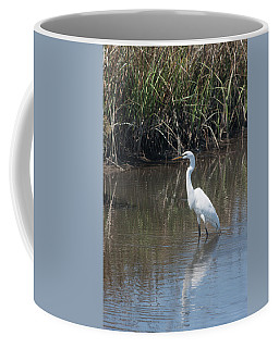 Yawkey Wildlife Refuge - Great White Egret II Coffee Mug by Suzanne Gaff