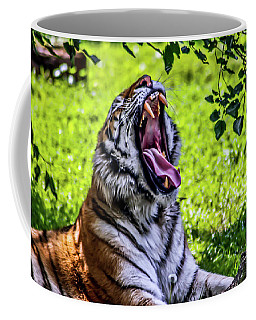 Yawning Tiger Coffee Mug by Joann Copeland-Paul