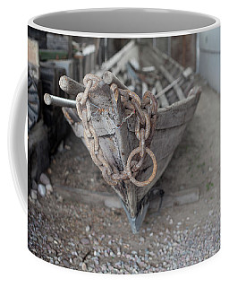 Coffee Mug featuring the photograph Ye Old Fishing Boat by Fran Riley