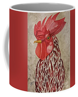Coffee Mug featuring the painting Year Of The Rooster 2017 by Maria Urso