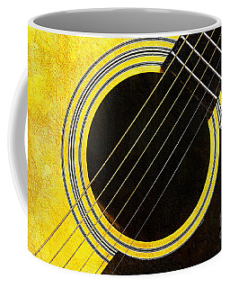 Yellow 2 Guitar Coffee Mug