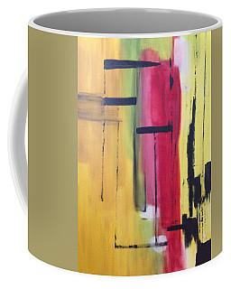 Yellow Abstract Coffee Mug