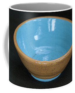 Yellow And Blue Ceramic Bowl Coffee Mug by Suzanne Gaff