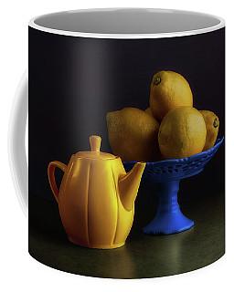 Yellow And Blue Still Life Coffee Mug