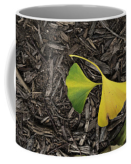 Yellow And Green Gingko Coffee Mug