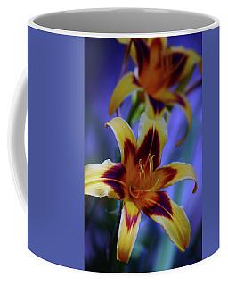 Yellow And Orange And Garnet Daylilies 1270 H_2 Coffee Mug