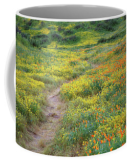 Yellow And Orange Wildflowers Along Trail Near Diamond Lake Coffee Mug by Jetson Nguyen