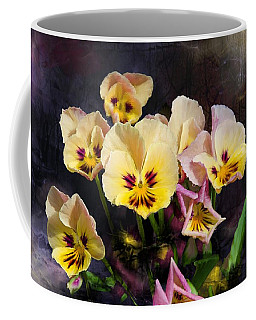 Yellow And Pink Pansies Coffee Mug
