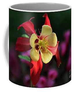 Yellow And Red Columbine Coffee Mug