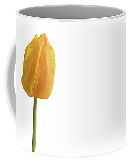 Coffee Mug featuring the photograph Yellow And Tulip by Marie Leslie
