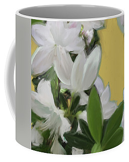 Yellow And White Flower Art 1  Coffee Mug