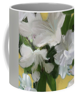 Yellow And White Flower Art 2 Coffee Mug