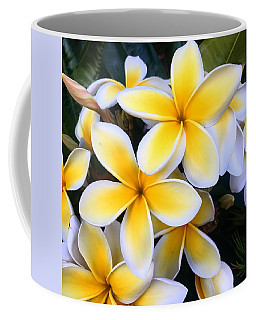 Yellow And White Plumeria Coffee Mug