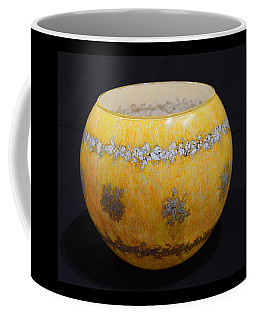 Yellow And White Vase Coffee Mug
