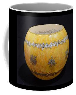 Yellow And White Vase Coffee Mug
