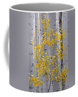 Yellow Aspen Tree Coffee Mug