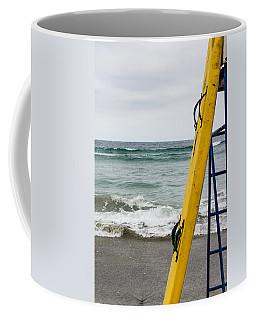 Yellow Surfboard Coffee Mug