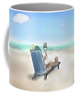 Yellow Bird Beach Selfie Coffee Mug