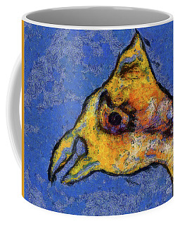 Coffee Mug featuring the digital art Yellow Bird by Claire Bull